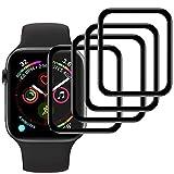 Ash-case【4 Stück Panzerglas Schutzfolie Bildschirmschutz für Apple Watch Series 3/2/1 42mm [Anti-Öl], [Anti-Bläschen], [3D Vollständige Abdeckung],[Anti-Kratzen]