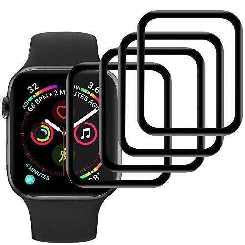Ash-case【4 Stück Panzerglas Schutzfolie Displayschutz für Apple Watch Series 3/2/1 42mm [Anti-Öl], [Anti-Bläschen], [3D Vollständige Abdeckung],[Anti-Kratzen]