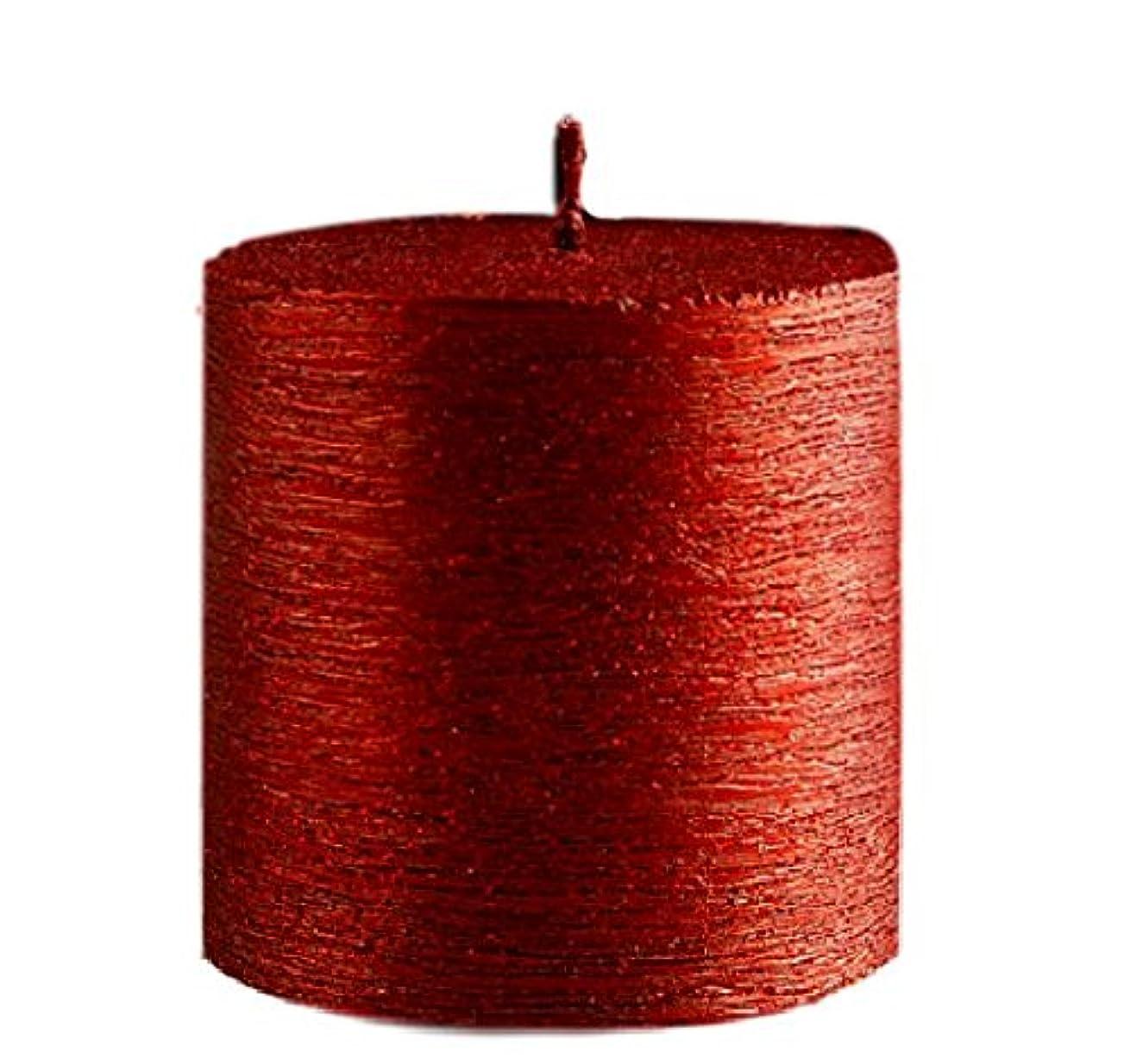 成功する北方申込み(Red) - Valentines Love Romantic Candle (Red) 7.5cm Pillar, Metallic Look, Classy and Elegant, Decorative Candle, Perfect for Weddings, Parties, Festive & Shimmery