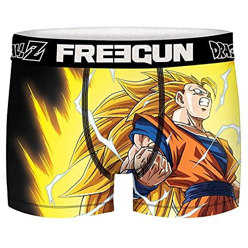 Freegun Dragon Ball Z Super Saiyen - Calzoncillos para hombre, San Goku Ss3, XL