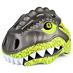 4. KINGBIKE Kids 3D Toddler Dinosaur Helmet