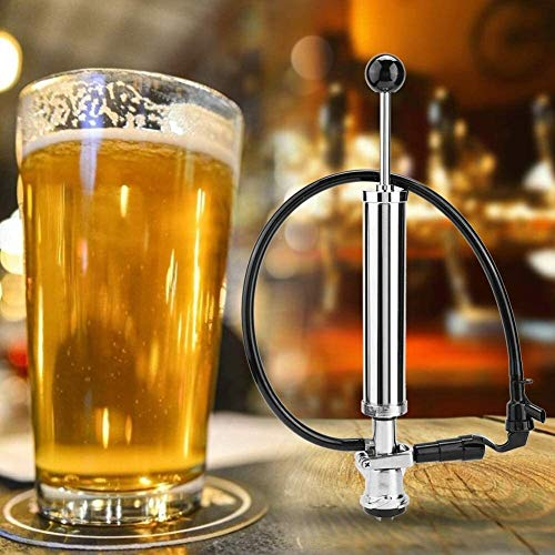 Bonheur Bier-Fass, 8in D-System-Heavy Duty Bier-Party-Pumpe Bier-Zapfhahn Tippen Sie auf Homebrew iji