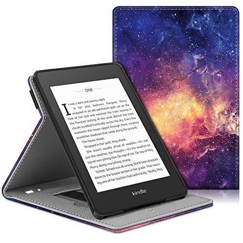 FINTIE Custodia per Kindle Paperwhite (10ª Generazione - Modello 2018) - [Multi-angli] Protettiva Case con Hand Strap e Funzione Auto Sveglia/Sonno, (Z-Galaxy)