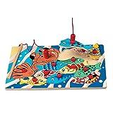 small foot company 8185 - Puzzle Encajable de Madera, Pesca con Caña Magnética