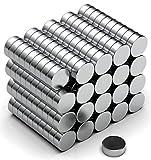 NeoMagNova 200 Stück Mini Neodym Magnet 5x2mm, Starke Magnete für Magnettafel, Whiteboard, Kühlschrank, Basteln, Neodym Magnete klein und extra stark N42