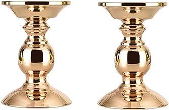 Set of 2 Candle Holders Stand Metal Candlesticks Holders Vintage Candelabra Candle Holder for Home Decoration Tables Valen...