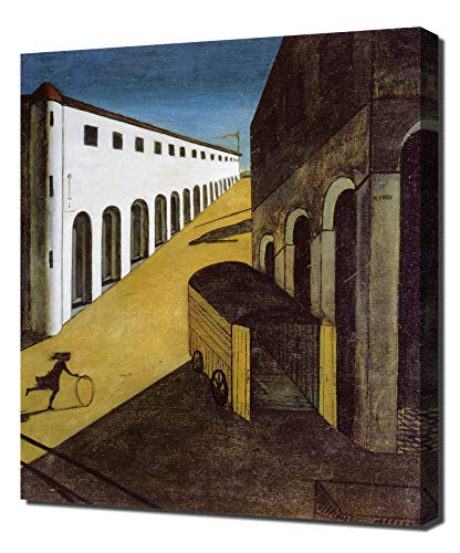 Lilarama USA Giorgio-De-Chirico-Mystery-and-Melancholy-of-A-Street 12x16 - Canvas Art Print - Wall Art - Canvas Wrap