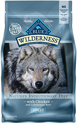 Blue Buffalo Wilderness High Protein Grain Free, Natural Adult Dry Dog Food, Chicken 4.5-lb