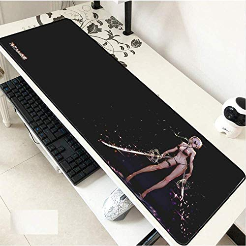 Large Mouse Mat Nier Automata 2B Gaming Mouse Pad Keyboard Mat Extended Mousepad for Computer Desktop PC Laptop Mouse Pad (Size : 700x300x3mm)