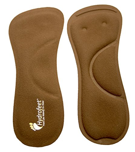 DYNAMIC LIQUID TECHNOLOGY absorbs pressure prevalent on the soles and balls feet when in high heels ARCH SUPPORT orthotic care shoe insert has a special memory foam cushions arch gently supports feet OPTIMUM COMFORT shoe insoles improve posture for b...