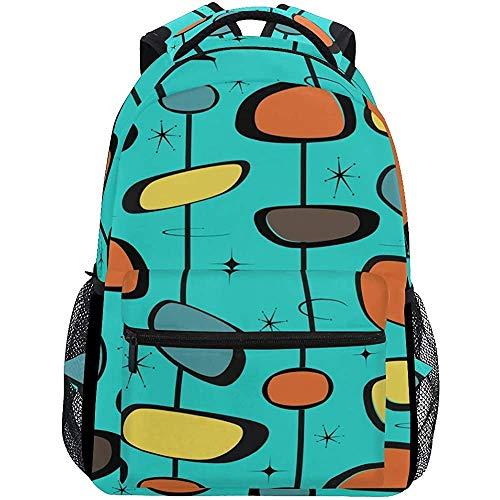 Backpack Mid Century Modern Mochila Casual Ligero Bolsas Universitarias Viaje Escolar Estudiante Duradero