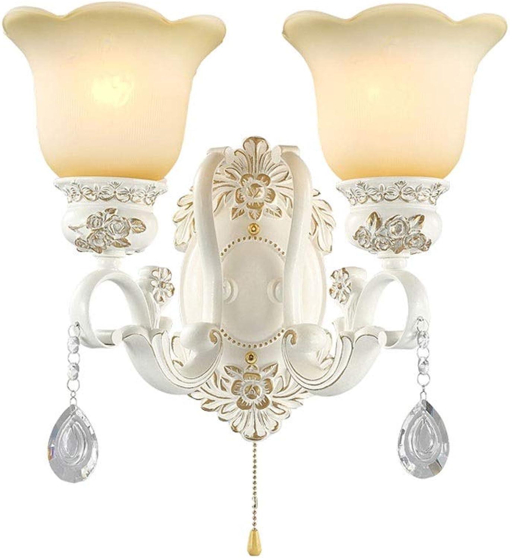 Raelf Weie Wandleuchte Schlafzimmer-Nachttischlampe mit Zugschnurschalter Wohnzimmer-Hintergrund-Wandleuchte Einfache moderne Treppengang-Gang-Korridor-Klammer-Licht-Harz-Lampen-Krper E27 Lichtquell