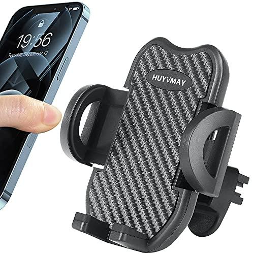 HUYVMAY Soporte de teléfono para rejilla de ventilación de coche universal con clip ajustable compatible con iPhone 12 11 Pro/XS Mas/XR/8/7 Samsung Xiaomi Huawei, 3.5-6.8 pulgadas Teléfono