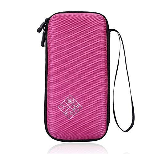 Xberstar Hard EVA Shockproof Carry Case Bag Pouch for Texas Instruments TI-84 Plus CE/Color TI-83 Plus,TI-89 Titanium, HP 50G Graphing, Scientific Financial Calculators (Pink)