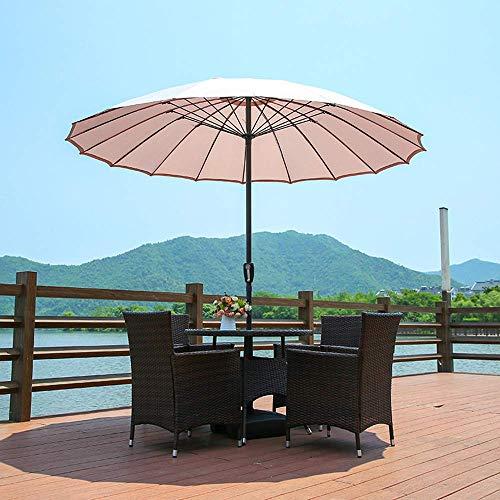 yanzz Sombrilla de Patio de 7.8 pies Sombrilla de Mercado de Playa Protección UV, Sombrillas de Mesa Impermeables para jardín al Aire Libre con 18 Varillas Resistentes