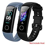Mijobs Correa Honor Band 5 Band 4 Reemplazo Pulsera Impermeable Silicona Pulsera Correa para Honor Band 5 Honor Band 4 (No Host)