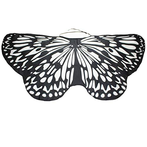 IZHH Frauen/Damen Neuheit Feenhafte Nymphe Pixie Halloween Cosplay Karneval Zubehör Weihnachten Cosplay Kostüm Zusatz, Gedruckt Chiffon Schmetterlings Flügel Butterfly Cape Schal Wrap Kimono