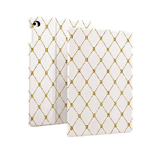 Yousave Accessories - Funda para iPad de 7ª generación de 10,2' 2019, diseño de triángulos geométricos en diferentes lados de la imagen, color dorado y blanco multicolor Color_19 Case for iPad 10.2' 2019 (7th Generation)