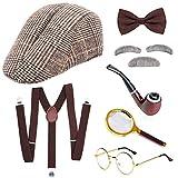 SPECOOL Sherlock Holmes Kostümzubehör Detective Zubehör Set Alter Mann Verkleidung Kostüme...