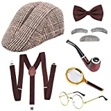 SPECOOL Sherlock Holmes Accessorio Vestito Set Old Man Disguise Cosplay Costume Kit Pipa F...