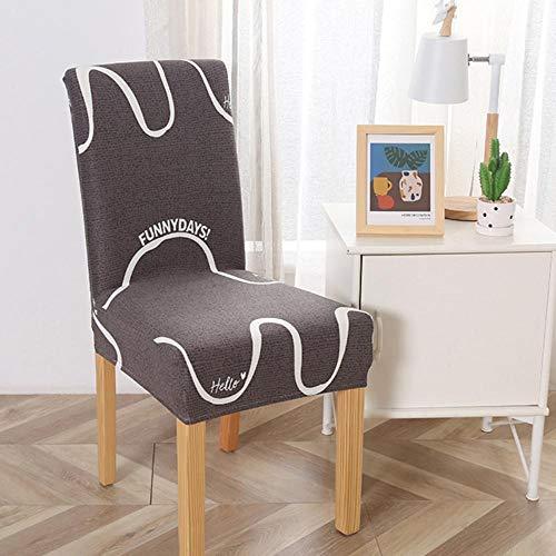 GFFGA Nouveau Housse de Chaise élastique Spandex Imprimé Plain Fashion Kitchen Dining Chair Case Housse de Protection de Chaise Anti-poussière Amovible, 10, Chine