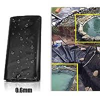 LJIANW人工池用透湿防水 0.6mm厚さHDPE魚のいる池のライナーヘビーデューティー造園プールの池庭園プール強化防水ライナークロス、 カット可能 (Color : Black/0.6mm, Size : 10x15m)