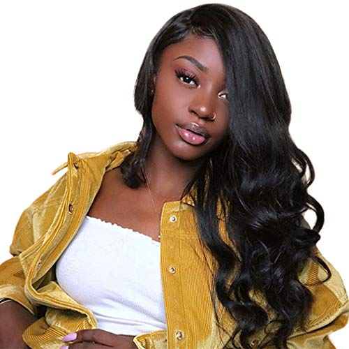 Body Wave Unprocessed Lace Front Wig NIUDINNG Pre Plucked Natural Hairline 130% Density Glueless 100% Human Hair Wigs for Black Women Remy Virgin With Baby Hair 26 pouce