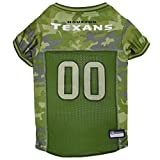 NFL Houston Texans Camouflage Dog Jersey, X-Large. - CAMO PET Jersey Available in 5 Sizes & 32 NFL Teams. Hunting Dog Shirt