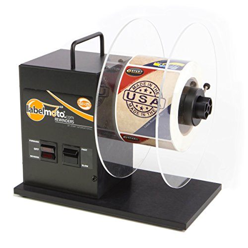 small START International LR4500 Bi-directional label winder, 9 inch roller capacity