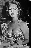 The Poster Corp Sophia Loren with Pasta Photo Print (20,32