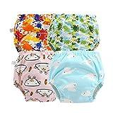 Morbuy Baby Lernwindel Trainerhosen Unterwäsche Windeln Windelhose zum Toilettentraining Töpfchentraining für Baby Kleinkind Töpfchen Klingelhose Trainer Windelhosen - 4 Stück (90cm,B)