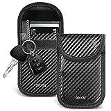 Olixar Car Key Signal Blocker Case/RFID Pouch - Car Keys Signal Blocker for Car Keyless Entry - Faraday Pouch - RFID & NFC Signal Blocking Wallet - Protect Keys & Credit Cards - Carbon Fiber