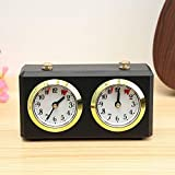 【No Battery Needed】No Battery Needed Wind-up mechanism ensures that you'll never have to interrupt a game to replace a battery. 【Accutate Time】The timing is accurate, and the daily error is no more than 1 second. 【Recommend】Available for Chinese Ches...