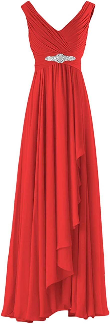 Bridesmaid Dresses V Neck Mother of The Bride Dress Long Evening Formal Gowns Ruffles Beaded Maternity Dress Womens