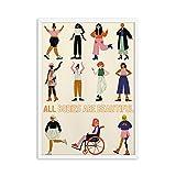 DFRES Poster Feminista Girl Power Art Prints Regalo para NiñAs Mujeres Empoderadas Pinturas Corporales Modernas ImpresióN En Lienzo Mujer HabitacióN Decoracion para El Hogar Cuadros 40x60cm Sin Marco