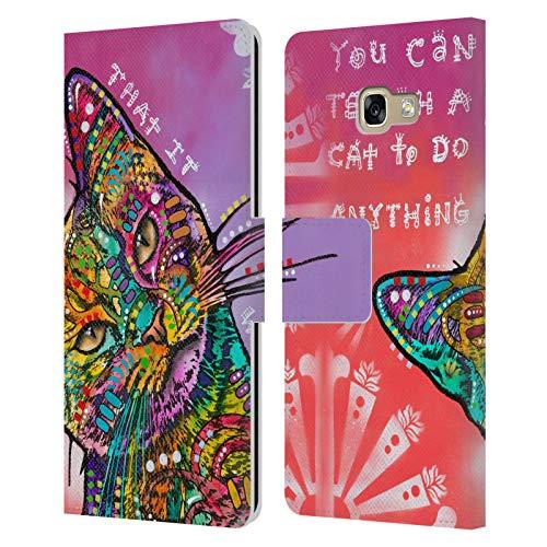 Head Case Designs Oficial Dean Russo Puedes enseñar a un Gato Gatos 3 Carcasa de Cuero Tipo Libro Compatible con Samsung Galaxy A5 (2017)