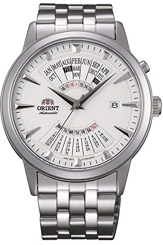 Orient Herren Analog Automatik Uhr mit Edelstahl Armband FEU0A003WH