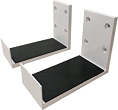 VIVIDSTORM Wall Brackets - Must Purchase with Our Screen for ElectricTension Floor Screen Wall Mount Set of Two - White (Including 2 Brackets)