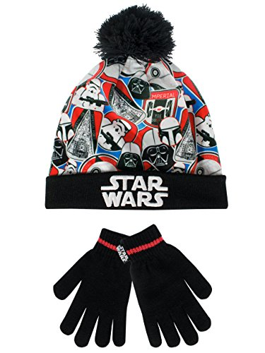 Star Wars Boys Hat and Gloves Set Multicolored One Size