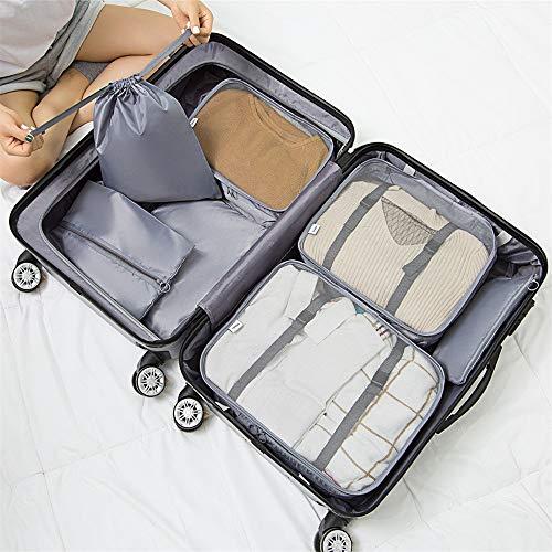 Bajo la cama de almacenamiento Conjunto De 7pcs embalaje viaje Cubos organizadores de equipaje Compresión Las bolsas impermeables de ropa bolsas de almacenamiento para el almacenaje del recorrido