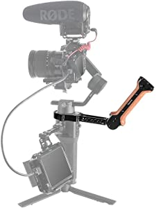 SMALLRIG Handgrip for DJI Ronin-SC  Wooden Handle with Thread Holes BS...