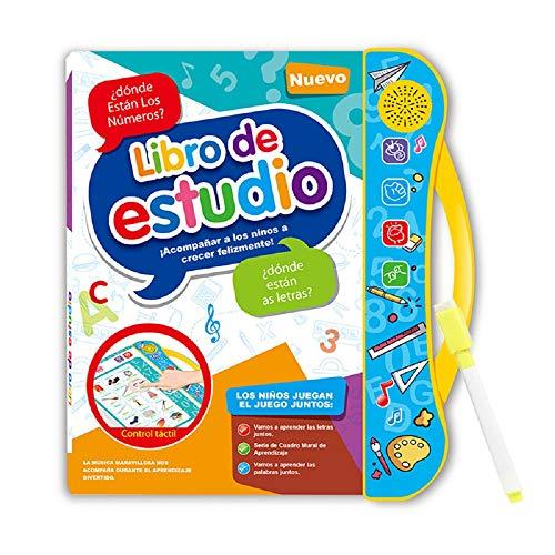 Juguete inteligente libros electrónicos, libros de audio preescolar en español e Inglés, padres e hijos de juegos, música / voz, táctil Reflex, E-libros for niños pequeños y en edad preescolar niños y