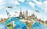 N\A Pintura por números para adultos, regalo para amigos, pintura de viaje alrededor del mundo, famosa arquitectura 40 x 50 cm