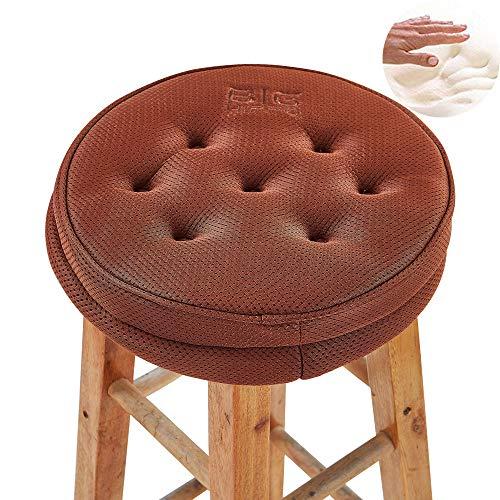 Big Hippo Cojín redondo de espuma con memoria para silla, cómodo, para caderas, coxis, taburetes, asiento acolchado para el hogar, asiento de coche, silla de oficina y todas las sillas