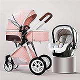 Cochecitos para bebés 3 en 1 Cochecito de bebé estándar Cochecito de cochecito de lujo plegable Carrera de cochecito de la vista alta vista PrAM BEBY CALIENTE CON MOMMY BAG Footmpuffin Refrigeramiento