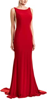 Faviana Womens Prom Open Back Evening Dress