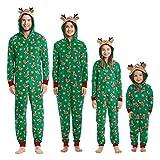 Pijamas Navidad Familiar Algodon Mono Pijamas Parejas e Hijos Trajes Navideños...