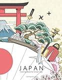 Japan Coloring Book for Grown-Ups 1: Volume 1 [Idioma Inglés]