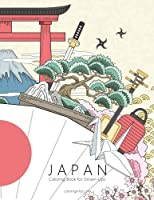 Japan Coloring Book for Grown-ups