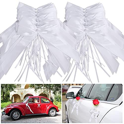 Lazos De Satén,Antena Lazos,Boda Lazos Satén Cinta,Decoración de coche de boda,Decoración de...